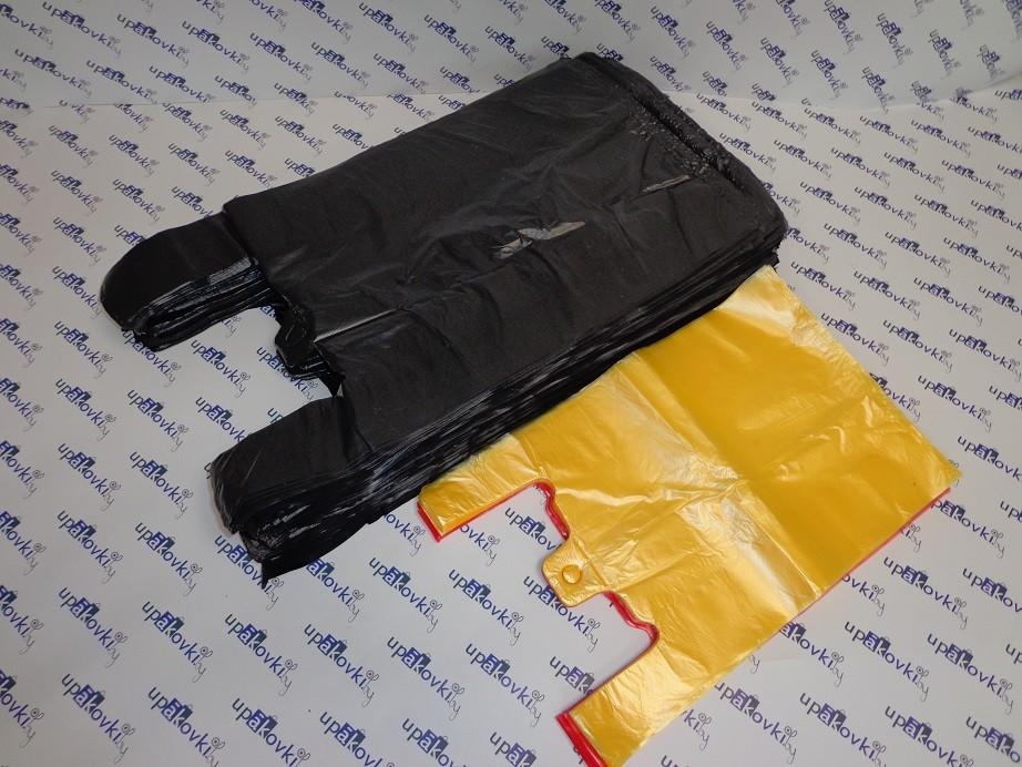 Пакет майка чёрная