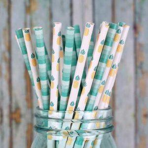 Бумажные трубочки с индивидуальным дизайном