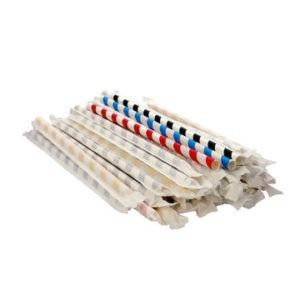 Бумажные трубочки в индивидуальной упаковке